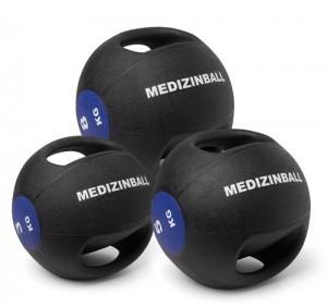 Medizinball mit Doppelgriff 3 Kg