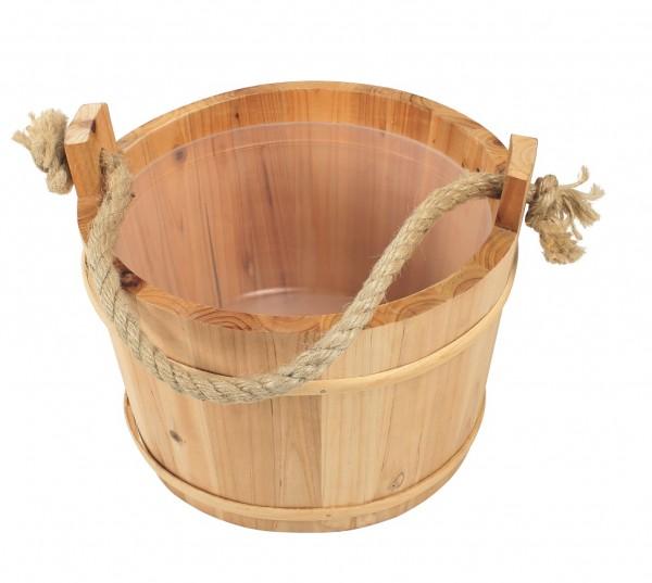 Saunakübel mit Kordel und Lüfterboden