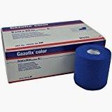 Fixierbinde GAZOFIX COLOR, 8cm x 20 m, gedehnt, blau, 1 Pck. à 6 Stück